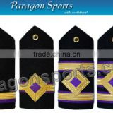 Navy Epaulettes Engineer Curved Diamond Gold Bars Shoulder Boards