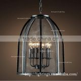 nordic most selling products Rural antique pendant lamps, design lighting interior iron candle chandelier