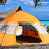 Two door 2 window double layer automatic family tent outdoor camping hiking beach tent