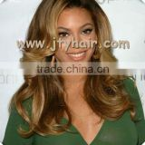 "Factory Wholesale Price 20"" Ombre Two Tone Loose Wave, Bleached Knot, Durable Malaysian hair Lace Front Wig"