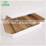 Top quality BBQ Disposable Bamboo Stick Packing in Paper Boxes