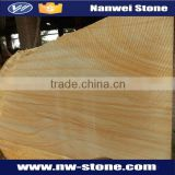 Yellow wooden grain Sandstone,Bush Hammered Surface Finishing and Sandstone Type Mint Sandstonen