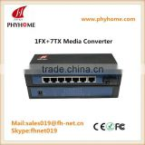 8 port 100/1000M Media Converter Web Management