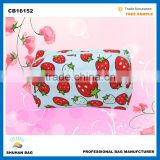 cotton cosmetic bag women fashion fruit make up bag Promotional high quality cosmetic bag