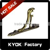 KYOK 22mm metal curtain rod bracket,aluminum custom curtain bracket,high quality curtain rod wall brackets                                                                                                         Supplier's Choice