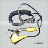 PU ESD ground wire Yellow and black