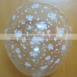 12'' Helium balloon Global printing transparent latex balloons of Advertising