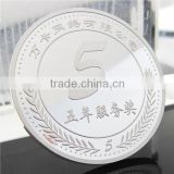 Custom Challenge Coin / Company Silver Coin Replica / 5TH Souvenir Silver Coin with MDF Coin Box