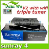 Wifi Sunray 800 hd se triple tuner Rev E V2 Decoder Samsat Sunray4 hd se sr4 Sunray sr4 v2 sim 2.20 card Linux Decoder