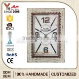 Cheaper Fashionable Design French Country Tuscan Style Wood Frame Home Goods Wall Clocks