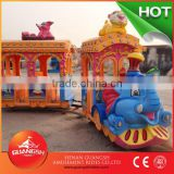 Most popular! Professional elephant track train outdoor theme park electrical train for sale