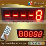 8inch 5digits 8.8.8.8.8 Outdoor 5 numbers 7 segment Gas station/petrol station led price display road signs