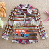 2-6Y (82162#stripe) Nova kids wear baby boy long sleeve t shirt cotton car character tops