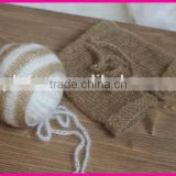 baby bonnet and pant crochet mohair newborn girl\boy photo prop set                                                                         Quality Choice