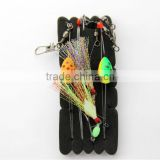 surfcasting pendulum pulley flasher float rig rainbown & assassin two trace