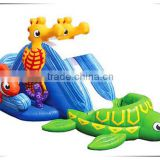 Amazing fish giant inflatable water slide, amusement park slide, outdoor inflatable slide for kids and adults