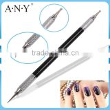 ANY Nail Art Rhinestone Collect Pen Metal Handle Free Sample Nail Art Dotting Tool with 7 Tips