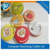 wholesale factory made round advertising smile metal tin button badge collar pin badge in favourable price