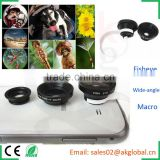 smartphone enhanced photography function camera lens wide-angle lens,fisheye lens,macro 3in1 snapshot kit
