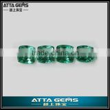 hot sale synthetic gems price per carat created green topaz