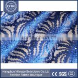 2016 royal blue sequin tulle fabric bridal wedding dress embroidery stones and beads european fabric african french lace
