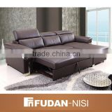 Modern leather sectional sleeper sofa bed frame                                                                                                         Supplier's Choice