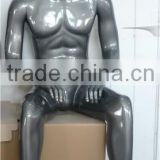 Modern Shop Furniture Fashion Grey Gold Male Full Body Mannequin For Sale