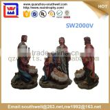 religious polyresin crafts and resin nativity figurines holy family statue for church decoration