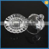 LXHY-CE0819 christmas crystal clear glass butter dish with lid                                                                         Quality Choice