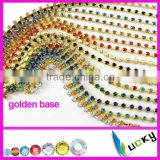 2014 latest Factory price Crystal chain Rhinestone cup chain Super Shiny Strass garment accessories