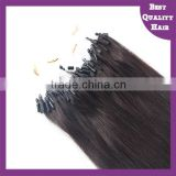 #1B Natural Black Indian Remy Brazilian Micro Loop Hair Extension 1g 8-30 inch Micro Ring Hair Extensions