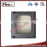 Environmental protection material fireplace glass door