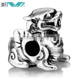 925 Silver Style Antique Animal Chinese Dragon Bead Charm