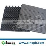 Garden tile self-installing wpc decking tiles, patio flooring tiles, outdoor interlocking plastic deck tiles