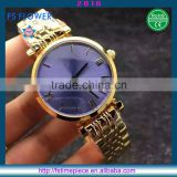 FS FLOWER - Ladies Watches Damen Uhren Uhr Purple Sunray Dial Japan Quartz Stainless Steel Case Back Watch