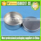 100g 150g 200g 250g 0.5oz 1oz 2oz Aluminum cream jar stock available aluminium tin/aluminum can