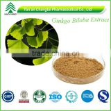 GMP certificated factory supply high purity natural ginkgo biloba leaf extract powder for lowering blood pressure