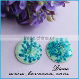 2015 New arrival !!! Flower cabochon - Real plant real flowers resin cabochon , real shells resin handmade cabochons for crafts