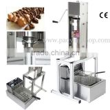 (3 in 1) Commercial Manual Spanish 5L Churros Machine + Working Stand + 6L 110v 220v Electric Deep Fryer