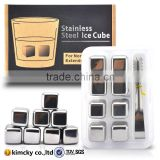 18/10 food grade stainless steel Cool Cube Whiskey Rock Stone Cube Whisky Ice Cube/ Whisky Stone/ Whiskey Stone For Party