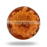 Glass Orange Bubble Knob