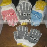Color Hem dot Glove Construction NaturaI White Factory Knit Work Glove Anti-Slip Plastic Dot Safety Labor Good Standard