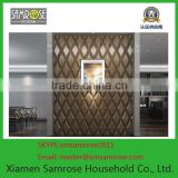 European construction material home decor embossed fireproof wall decor 3d leather board