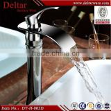 jiangmen chromed plated waterfall faucet, luxury art basin tap,copper faucet
