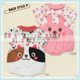 new baby clothing girls fancy cartoon casual Rabbit cat classic Rompers baby girls jumpsuits Image