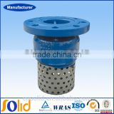 Price PN16 Cast Iron Flanged Type Foot Valve With Strainer