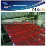 pvc plastic roof tile extrusion line/pvc imitation tile making machine/pvc roof tile production line