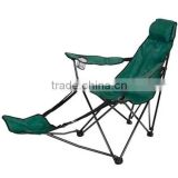 Outdoor foldable folding beach chair with armrest and footrest