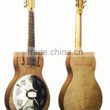 Resophonic guitar, single cone resonator guitar, handmade resonator guitar