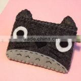 Best selling products polyester Camera case e-reader sleeve Totoro style wool fabric cartoon mobile phone cover manufacturer